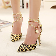 Women's Shoes Synthetic Stiletto Heel Pointed Toe Heels Party & Evening / Dress Animal Print