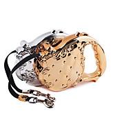 כלבים רצועות עמיד למים / חוזרמתכווננת / אוטומטי Gold / Silver ניילון / גומי