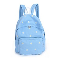 Women Canvas Casual / Outdoor Backpack Pink / Purple / Blue / Green / Yellow