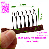 4 * 3.1 * 3 wig accessories wholesale, Brown Color Combs attach to wig caps,  100pcs/lot for wig making