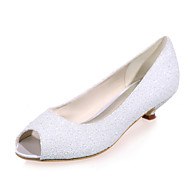 Women's Spring Summer Fall Glitter Wedding Party & Evening Low Heel Black Ivory White