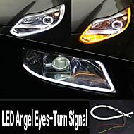 yobo 6w 450-550lm 60mm tags angel eyes + Blinker weiß + gelbe Farbe High Power Auto LED-Licht-Lampe (12 V DC / 2ST)