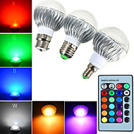 1 pcs E14 / GU10 / E26/E27 / B22 5W 1 High Power LED 540 LM RGB Dimmable / Remote-Controlled Globe Bulbs AC 85-265 V