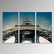 VISUAL STAR®Paris Landscape Photo Print/Effie Tower Canvas Paintings/3 Panel Wall Artwork Ready to Hang