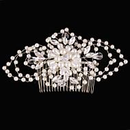 Vintage Charming Design Wedding Bride Handmake Headband Pearls Flower Combs Hair Accessior Flower Silver