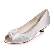 סנדלים - נשים - נעלי חתונה - נעלים עם פתח קדמי - חתונה / מסיבה וערב - שחור / כחול / ורוד / סגול / אדום / שנהב / לבן / כסוף / זהב / שמפניה