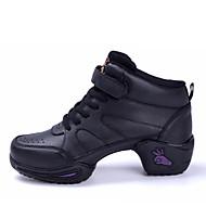 Küba Topuk - Deri - Caz / Dans Sneaker Ayakkabıları / Modern / Flamenko - Kadın's - Sigara Özelleştirilebilir