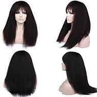 premierwigs 8 '' - 26 '' teljes perverz egyenes brazil szűz glueless teljes csipke emberi haj parókák glueless csipke első paróka