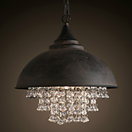 Loft Pendant Lights Crystal Retro/ Coffe Bar Light/ Dining Room / Study Room/Game Room / Hallway / Garage Metal