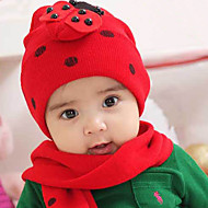 Kid's Lovely Beatle Pattern Hat and Scarf Set