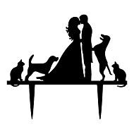 Figurine ( Schwarz , Acryl ) - Nicht-personalisierte - Hochzeit / Jubliläum / Brautparty