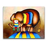 bambino e elefante pittura iarts®cartoon fumetto per la stanza dei bambini decorazione della parete di arte