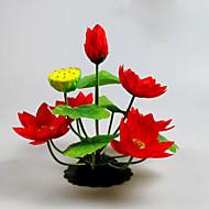 Poliéster Lótus Flores artificiais
