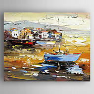 Pintados à mão Paisagens AbstratasModerno 1 Painel Tela Pintura a Óleo For Decoração para casa