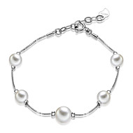 925 Sterling Silver Bracelet with  Fresh Water Pearl