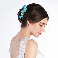 Blue Daisy Flower Girl Garland/Headpiece