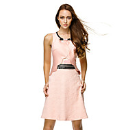 TS Couture Cocktail Party Dress - Pearl Pink Sheath/Column Scoop Short/Mini Satin