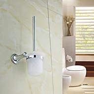 """Suporte para Escova de Banheiro Cromado De Parede 300 x 120 x 115mm (13.8 x 4.72 x 4.53"""") Latão / Cristal Contemporâneo"""