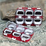 2pcs / set podem ser emendados caixa gancho de 6 células com a pesca ímã plástico impermeável caixas de equipamento