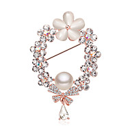 Female Shawl Pin Brooch Pearl Plum Button Suit