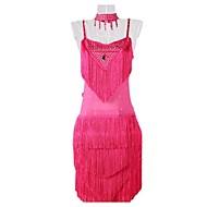 Latin Dance Dresses Women's Performance / Training Milk Fiber Tassel(s) 1 Piece Orange / Pink / Royal Blue