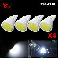 High Power 4 X White COB T10 194 168 LED 12V Instrument Dash Light Bulbs