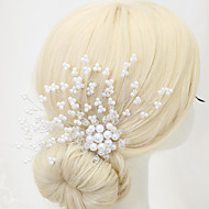 Women's Flower Girl's Crystal Alloy Imitation Pearl Headpiece-Wedding Special Occasion Hair Combs 1 Piece