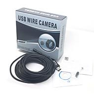 7m waterdichte usb 2.0-cmos 7mm lens 6 geleide slang hd camera endoscoop