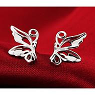 Női Beszúrós fülbevalók Divat aranyos stílus jelmez ékszerek Ezüst Animal Shape Pillangó Ékszerek Kompatibilitás Esküvő Parti Napi