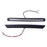 2*White 12 LED DRL Car Auto Truck Daytime Running Light Lamp High Power 5W
