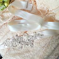 Szatén Esküvő / Party/estély / Hétköznapi Ablakszárny-Flitterekkel / Kövekkel / Rátétekkel / Gyöngyökkel / Strasszos Női98 ½ hüvelyk (250