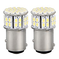 2 * carro 1016 1157 BAY15D estacionamento freio cauda luz de travagem bulbo branco 3528SMD 50 LED 12v luz