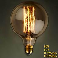 G125 прямой провод 60w 110v-240v Лампа щелочных большие ретро декоративные лампочки
