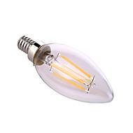 ywxlight® e12 8W 4 cob 640 lm Branco / quentes naturais levou vela lâmpadas ac 110-130 v