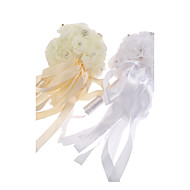 "Wedding Flowers Round Roses Bouquets Wedding Tulle 4.72""(Approx.12cm)"