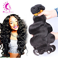 Peruvian virgin hair body wave 3bundles Natural color #1B unprocessed Human hair weaves Fast Shipping Peruvian body wave