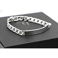 Top Quality Titanium Steel Platinum pt Plated ID Bracelet for Men(8mm*21cm)