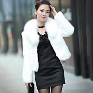 Wedding  Wraps / Fur Coats Shrugs Long Sleeve Faux Fur Black / Burgundy / Ivory Wedding Feathers / fur Open Front