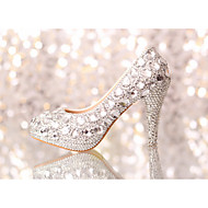Women's Spring / Summer / Fall / Winter Heels Glitter Wedding / Dress / Party & Evening Stiletto Heel Rhinestone / Crystal Silver