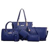 נשים - תיק צד / תיק נשיאה / ארנק / מחזיק מפתחות - לבן / כחול / זהב / שחור - קניות - PU