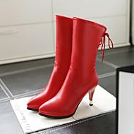 Kozačky - Syntetika - Lodičky / Módní boty - Dámská obuv - Černá / Hnědá / Zelená / Červená - Outdoor / Kancelář / Běžné - Vysoký