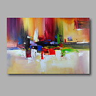 Ready to hang Stretched Hand-Painted Oil Painting on Canvas Wall Art Abstract Contempory Vivid Color Melody
