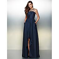A-라인 쥬얼리 비대칭 태피터 프롬 포멀 이브닝 드레스 와 크리스탈 디테일 으로 TS Couture®