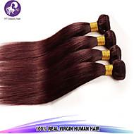 """1pcs / lot 14 """"-24"""" Peruaanse maagd haar steil haarkleur 99j onbewerkt mensenhaar weeft"""