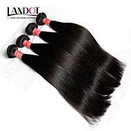 "3Pcs Lot 8-28"" Burmese Virgin Hair Straight Natural Black Human Hair Weave Bundles Tangle Free Soft Hair Extensions Weft"