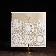 כרטיסי הזמנה הזמנות לחתונה מקופל מותאם אישית 50 יחידה / סט