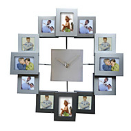 Fashion Design Photo Frame Wall Clock, High Quality Home Decor art picture frame clock