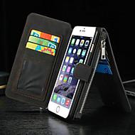 iphone 6S 6プラスのための贅沢な多機能分割ファスナー財布カード携帯電話ケース