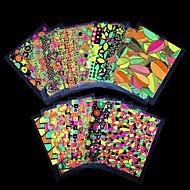 Autocolantes de Unhas 3D / Jóias de Unhas - Punk - para Dedo - de PVC - com 12pcs - 62mm*52mm