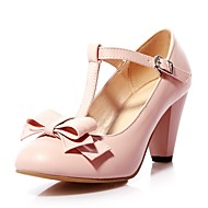 Girls' Shoes Outdoor / Party & Evening / Athletic / Dress / Casual Round Toe Leatherette Heels Black / Green / Pink /